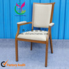 comfortable metal wood grain chairs for the eldely YCF-E63-08