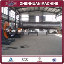Helical corrugated steel pipe machine