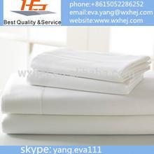 "New white queen size 90*110"" flat bed sheet T200 hotel linen"