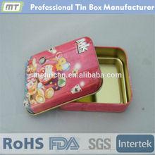 metal rectangular digital cable storage tin case