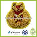 hecho a mano baratos bordado personalizado alemán de la escuela insignias de uniforme insignia