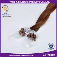 High quality 100% human no tangle keratin nano micro ring for hair extension