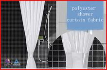 simple custom printed bath waterproof polyester shower curtain fabric window curtain