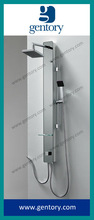 2014 ACS, cUPC, CE approval high quality Tempered glass white colored shower panel / colonne de douche G082
