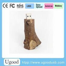 Wood branch usb flash drive/pen drive 1GB 2GB 4GB 8GB 16GB 32GB 128GB 256GB wholesale bulk cheap price from Ugood