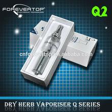 Dry herb vaporizer Q2 for e cigarettes percolator hookah pipe original come from Shenzhen glass atomzier vaporizer Q2