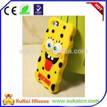 3D Cute Soft Silicone Case Cover Skin SpongeBob SquarePants Case