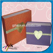 Luxury wedding gift box with heart shape window