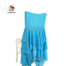 Factory Wholesale Wedding Chair Organza Sash, Romantic Santorini Blue