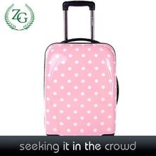 Beautiful Pink Dot Girls Travel Rolling Luggage PC Dot Luggage Women