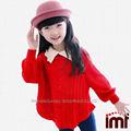 fashion style preppy à manches feuilletée chandail de laine pour les enfants