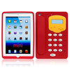 Red 3D telephone Design Silicone Case for iPad Mini2-896
