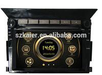 New design wince 6.0 car stereo for Honda Pilot with GPS/Bluetooth/Radio/SWC/Virtual 6CD/3G internet/ATV/iPod/DVR