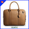 Classical design yellow briefcase men top grain leather briefcase