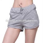 Custom 65%cotton 35%polyester women sports shorts fitness