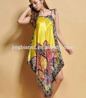 2014 unique design popular women silk nightgown #OS11