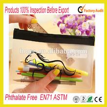 Phthalate free clear vinyl pvc zipper pouch