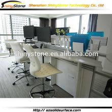 Simple Elegant Lacquer Office Desks with High Class Artificial stone desktop
