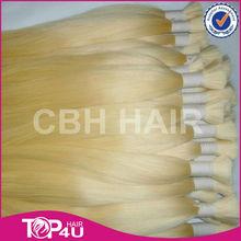 Hight quality full cuticle honey blond remy human hair raw virgin hair bulk russian