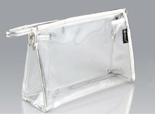Zipper closed Clear vinyl plastic packing pouch
