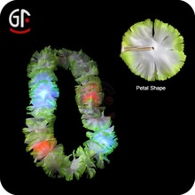 Party Tent White Led Hawaiian Lace Flower Necklace
