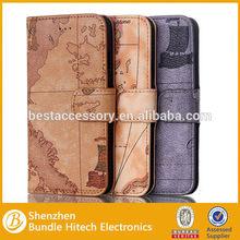 Top design flip wallet leather mobile case, mobile phone wallet case, flip cover for iphone 6