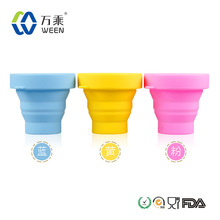 Activity Promotional Traveling Silicone Folding Cup with Lid (EXW$0.4-0.65)