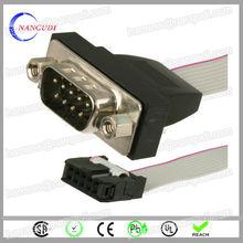 wholesale custom design 2.54mm 10 pin 10 pin d-sub cable