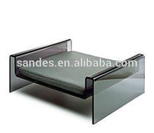 Elegant Design Gray Square Acrylic Dog Bed