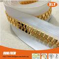 Guter qualität aus kunststoff reißverschluss roll neuen gold-chain-design für männer