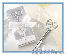 Wholesales heart shape wine bottle stopper wedding gift & souvenirs decoration