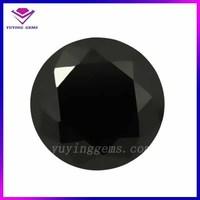 Round brilliant cut 10mm loose gemstone rings black zircon