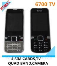 KOMAY china 4sim cell phone 6700 mobile phone