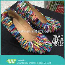 Zinc Alloy luggage Zipper slider size 5# for DIY Craft bracelets