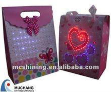 Promotional Lighting Glitter Paper Bag Exporter