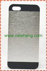 Hard Plastic Aluminum Brushed Metal Case for iphone 5 5g