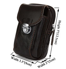 Genuine Leather Waist Belt Bag for Cell Phone