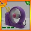 Supply Soft Blades USB Mini Baby Table Fan Children like Snail Fan