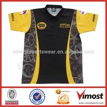 2014 latest design team motorcycle/auto racer shirt custom racing shirt