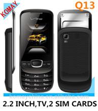 KOMAY Slide 2.2 inch screen dual sim cards mobile phone q13