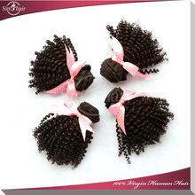 Hot sale unprocessed 100% virgin mongolian kinky curly hair wholesale kinky hair extention
