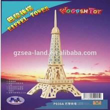 Construction 3D: Empire State Building / Eiffel Tower / Torre de Belem