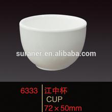 เทียมที่มีคุณภาพสูงได้รับการออกแบบราคาถูกสีขาวถ้วยกาแฟเมลามีน