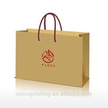 man use T shirt paper packaging bag design with logo printing