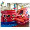red color inflatable pirate ship, red pirate ship slide