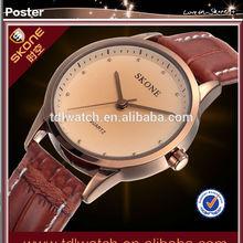 9131 Fashion Skone men leather bracelet men watch