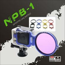 NEOpine Aluminium Alloy GoPro 3+ Filter Adapter Ring full hd 1080p action sport camera NPB-01