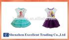 Summer princess Cinderella & Ariel & Belle print girls dress