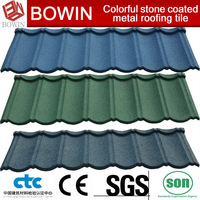 colorful sand metal roofing sheet /architectural roofing tile /steel shingles