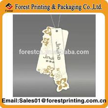 Custom summer paper printing fashion shirt hang tag
